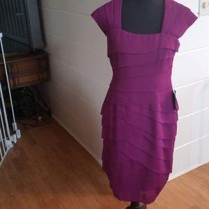 Adrianna Papel size 6 purple/fushia dress